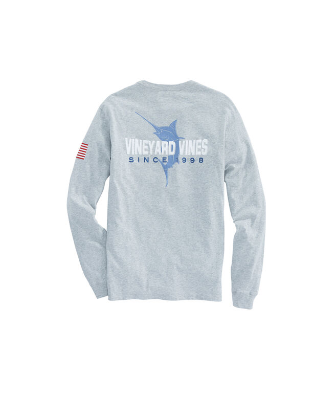 Long-Sleeve 98 Marlin Pocket T-Shirt