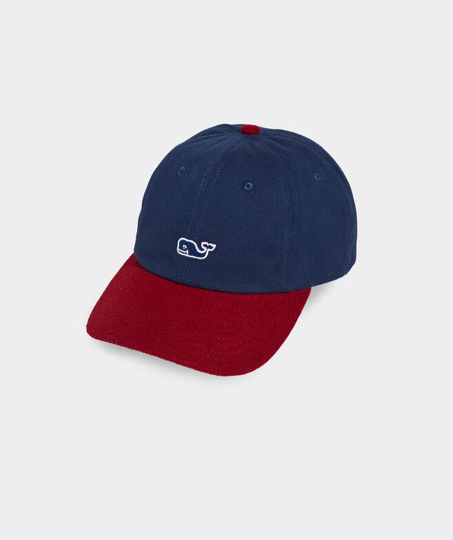 Colorblock Wool Brim Baseball Hat