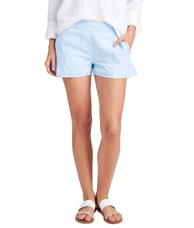 Resort Stripe Flounce Pull On Shorts