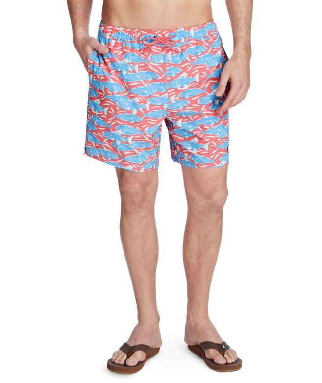 OUTLET Men's Swimming With Fish Chappy Trunks