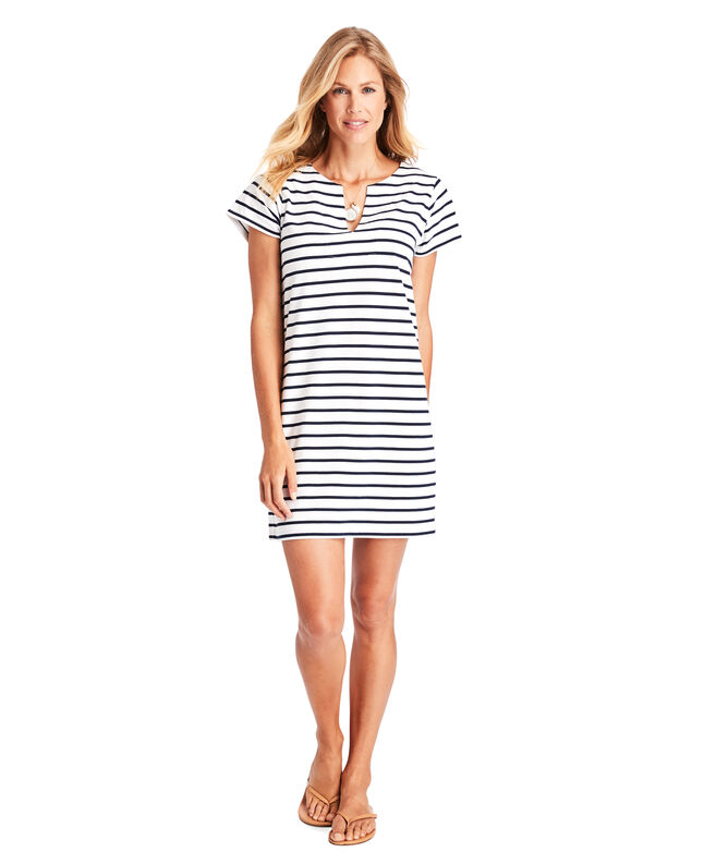 Striped Knit Tunic Dress