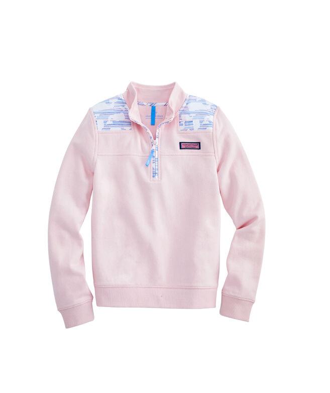 Girls Whale Fine Stripe Classic Shep Shirt