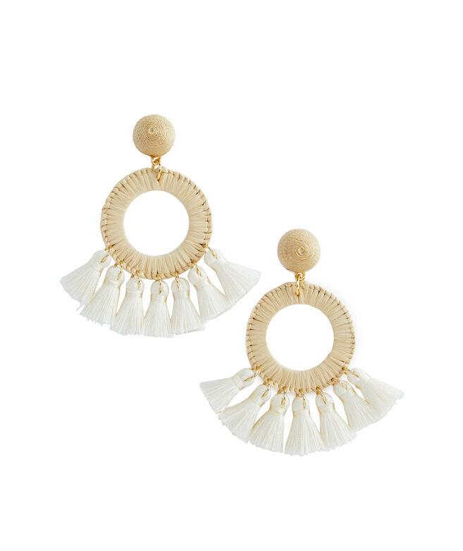 Raffia Tassel Earrings