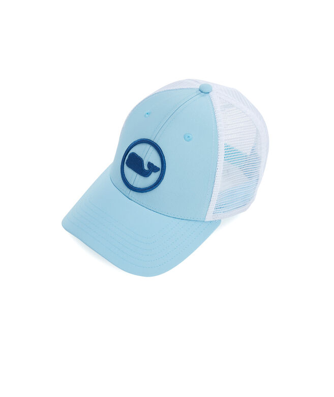 Boys Whale Dot Puff Embroidered Trucker Hat