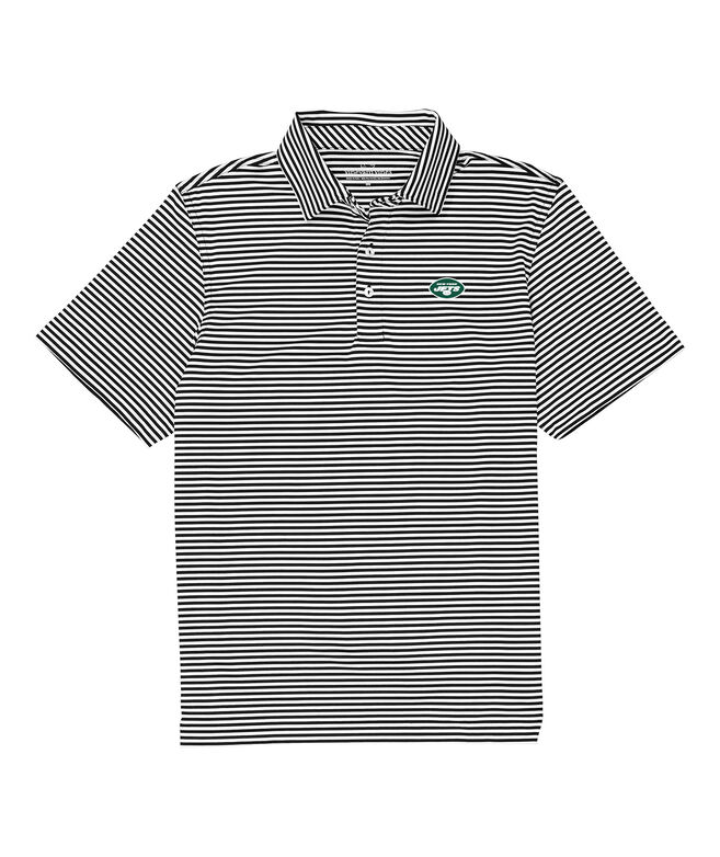 New York Jets Winstead Stripe Sankaty Performance Polo