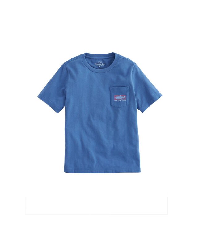 Boys Tarpon Whales Pocket T-Shirt