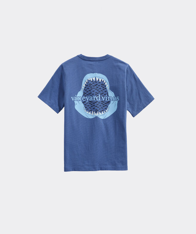 Boys' Glow-In-The-Dark Shark Jaw Short-Sleeve Pocket Tee