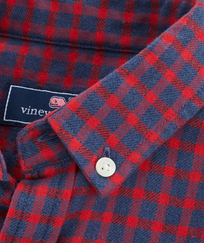 Boys Sycamore Whale Button-Down Flannel Shirt