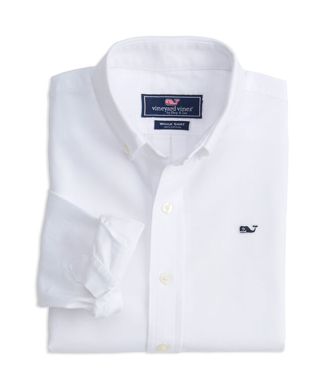 Boys End on End Oxford Whale Shirt