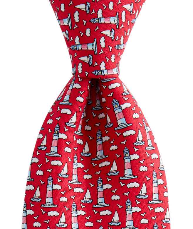 Boys New Lighthouse & Sailboat Printed Tie