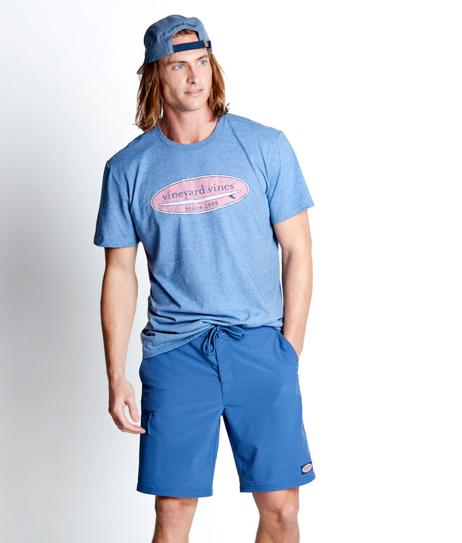 Hatched Surf Logo Island T-Shirt