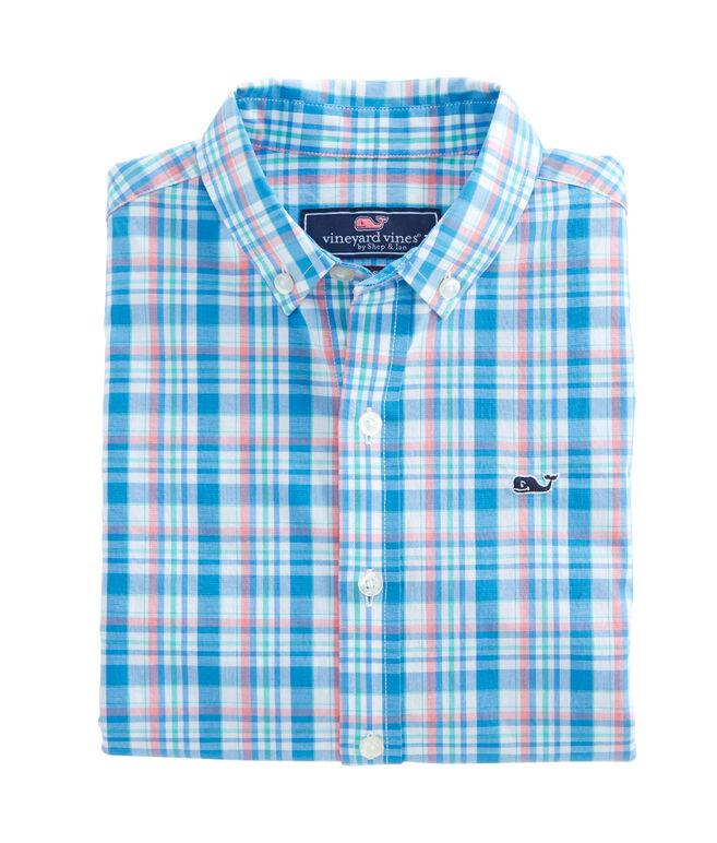 Boys Pimnys Point Plaid Whale Shirt