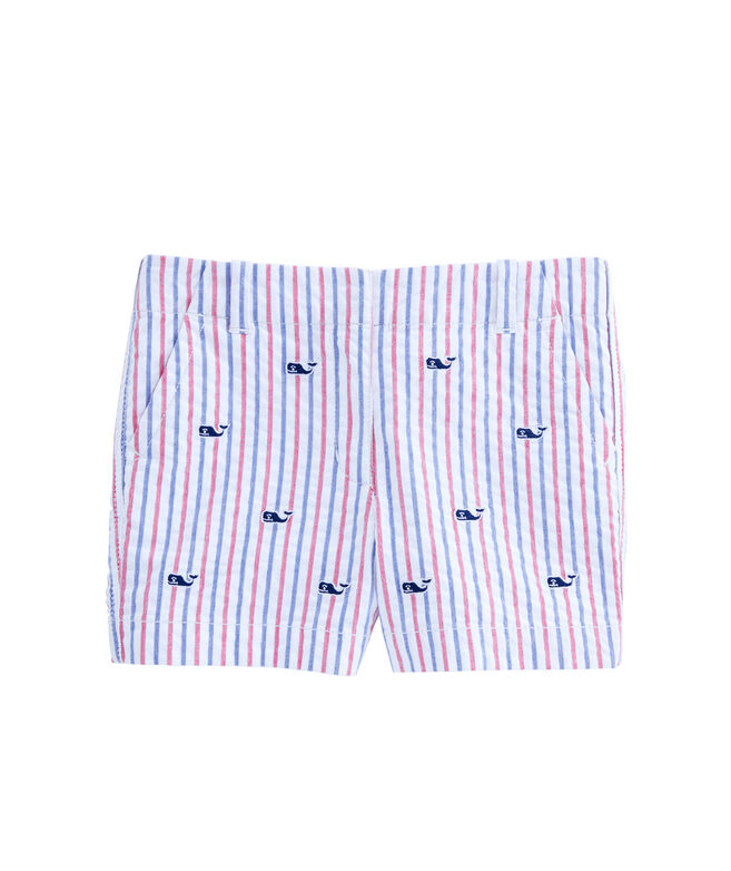 Girls Firework Embroidered Seersucker Every Day Shorts