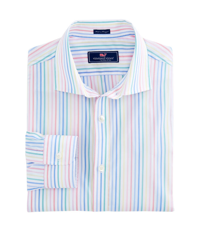 South Drop Stripe Performance Cooper Shirt