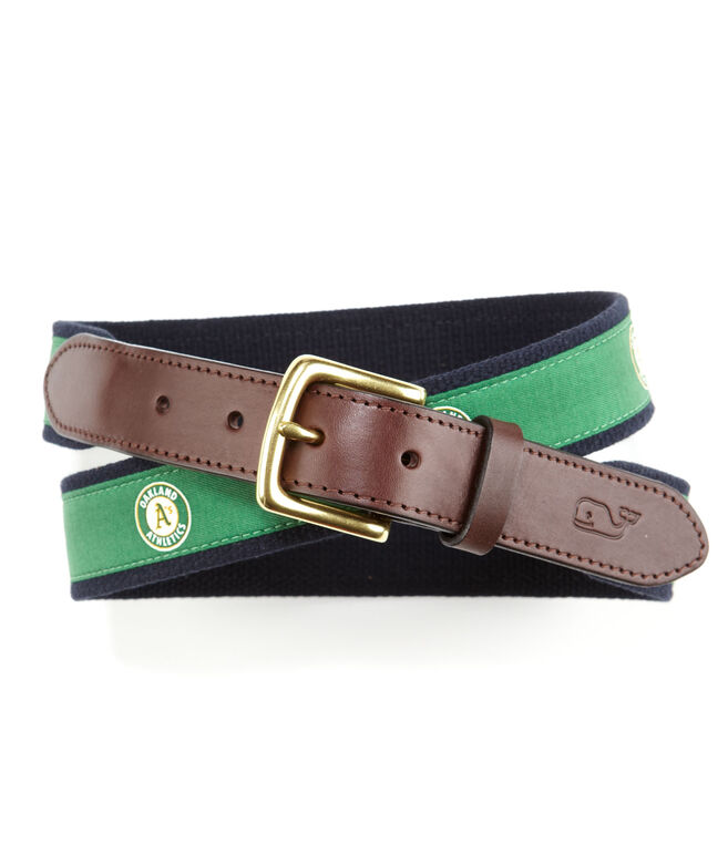 Oakland A's Canvas Club Belt