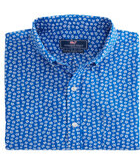 Short-Sleeve Woodblock Floral Slim Murry Shirt