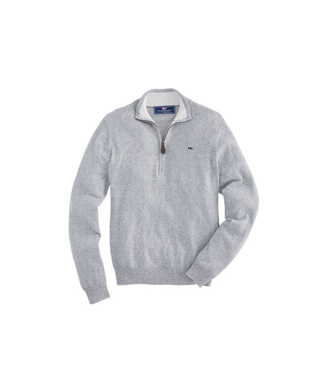 Boys Palm Beach Stripe 1/4-Zip Sweater
