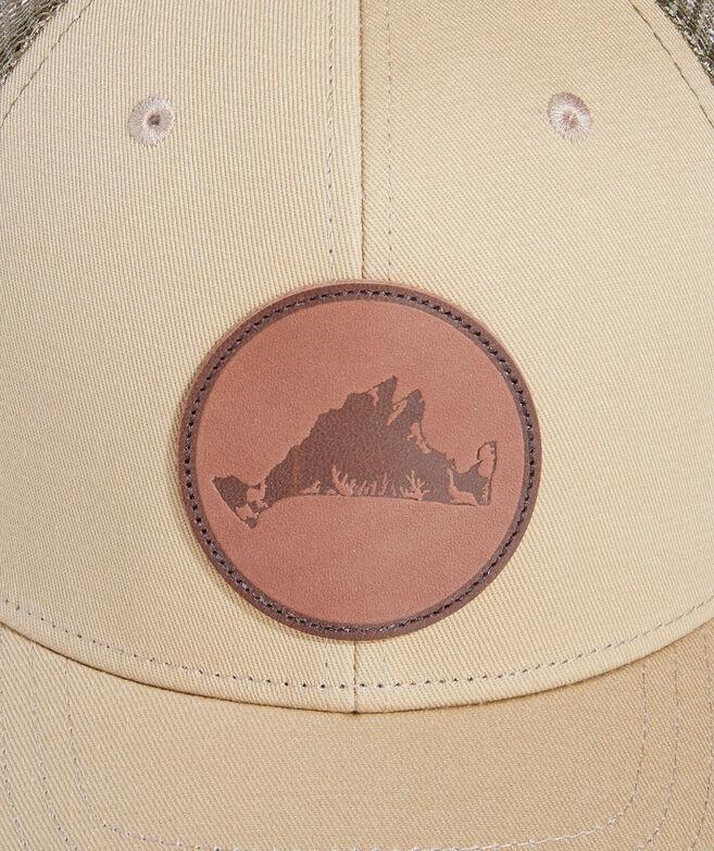 Martha's Vineyard Leather Patch Trucker Hat