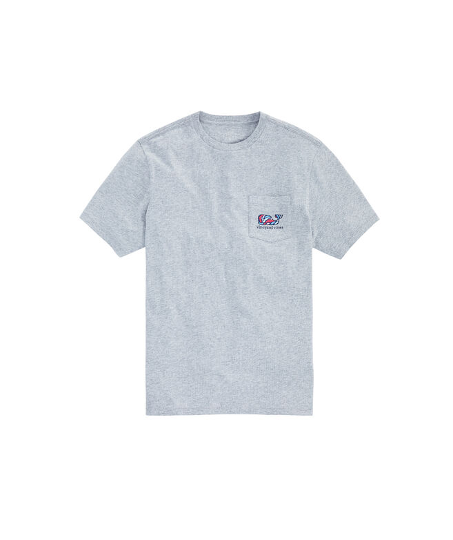 Big & Tall Camo Whale Fill Pocket T-Shirt