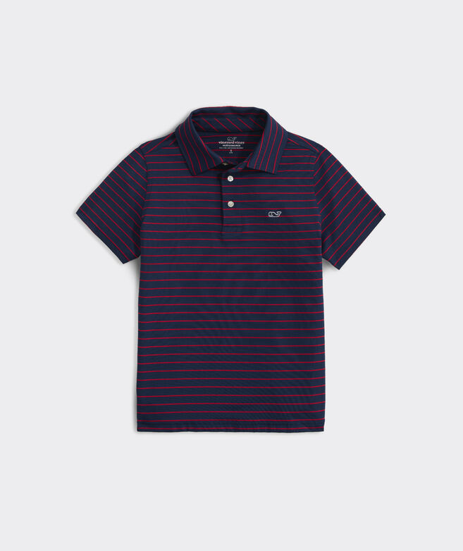 Boys' Worth Stripe Sankaty Performance Polo