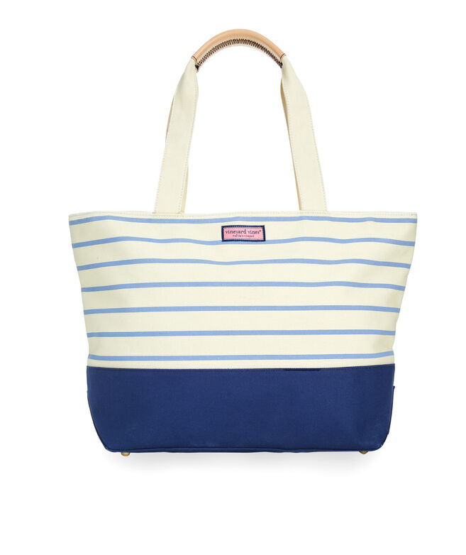Large Striped Vineyard Tote