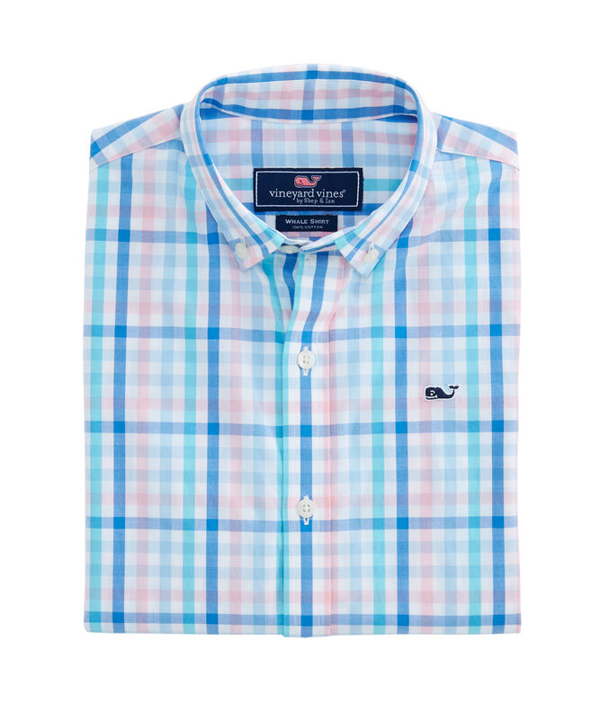 71c7ebb9 Shop Boys Atala Tattersall Tartan Whale Shirt at vineyard vines