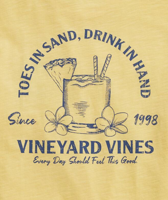 Toes in Sand Slub Short-Sleeve Tee