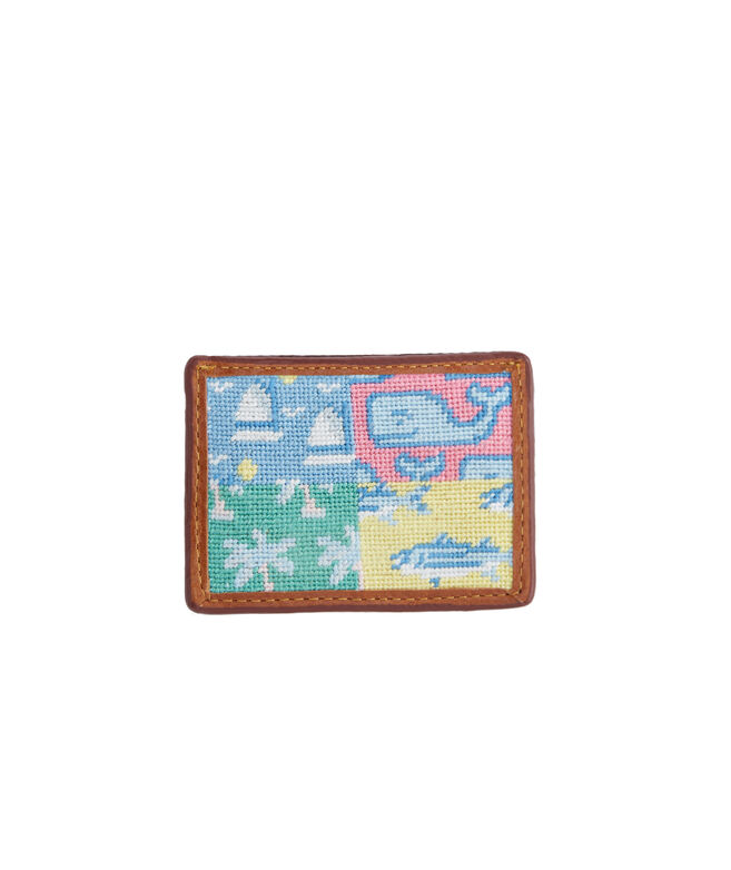 vineyard vines x Smathers & Branson Patchwork Needlepoint Card Case