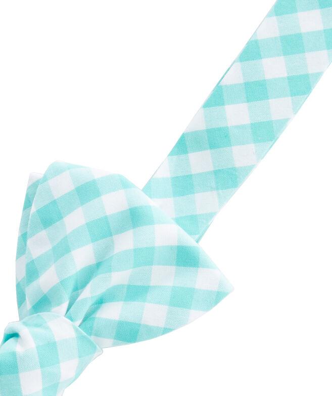 Corozo Gingham Woven Bow Tie