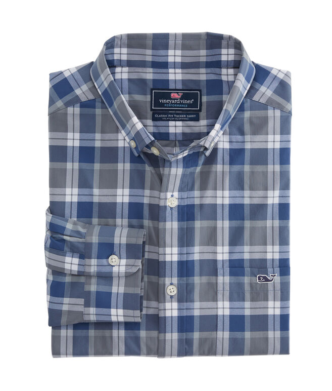 Lighthouse Plaid Performance Classic Tucker Shirt