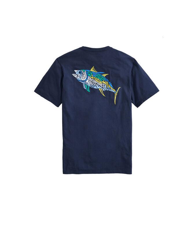 Big & Tall Tuna Icon Fill Short-Sleeve Pocket T-Shirt