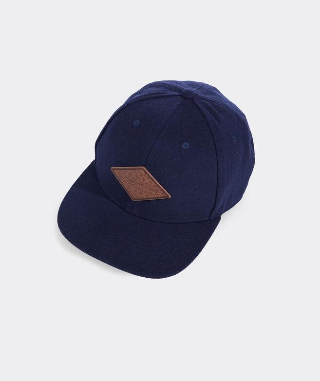 vineyard vines Diamond Leather Patch Wool Baseball Hat