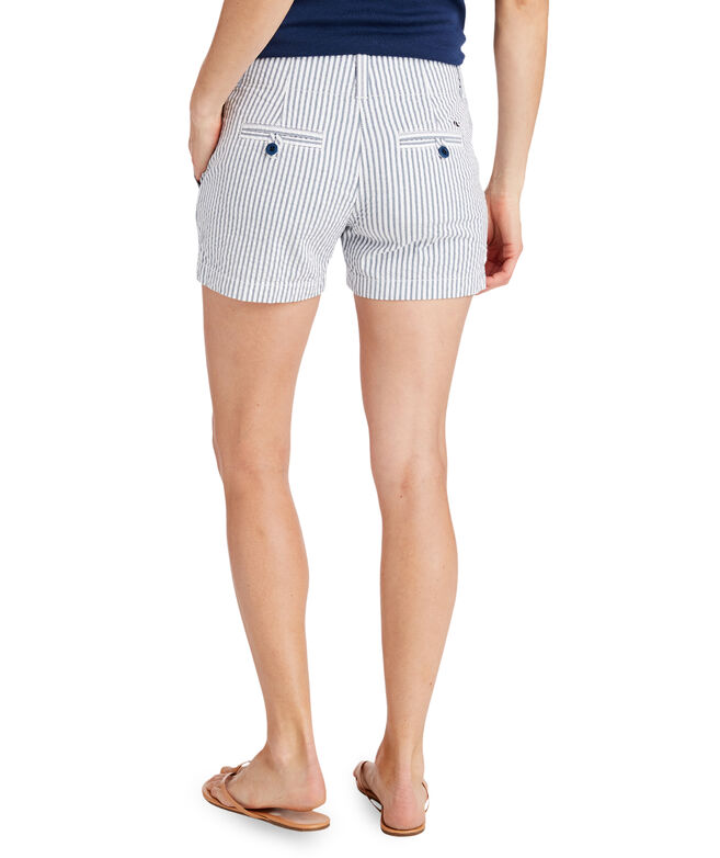 3 1/2 Inch Vineyard Seersucker Every Day Shorts