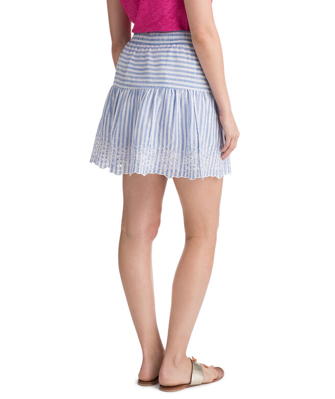 Eyelet Stripe Skirt