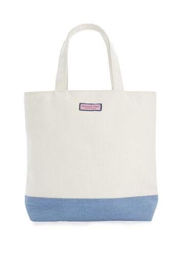 Chambray Bottom Tote Bag