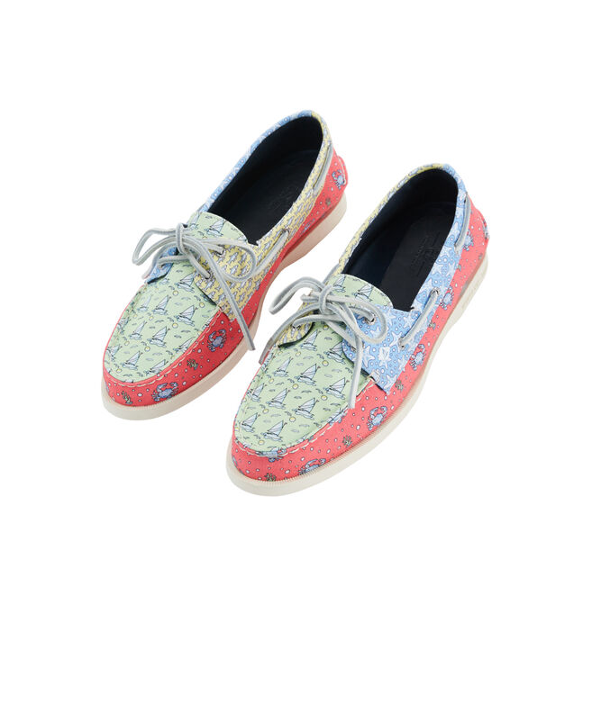 Womens Sperry x vineyard vines Heritage Patchwork Authentic Original Boat Shoe