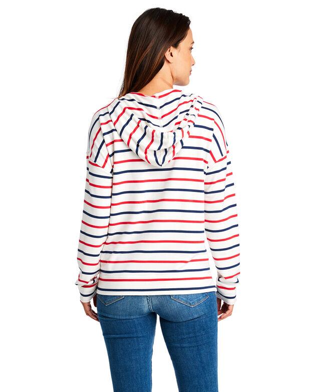 Americana Striped Pop-Over Hoodie