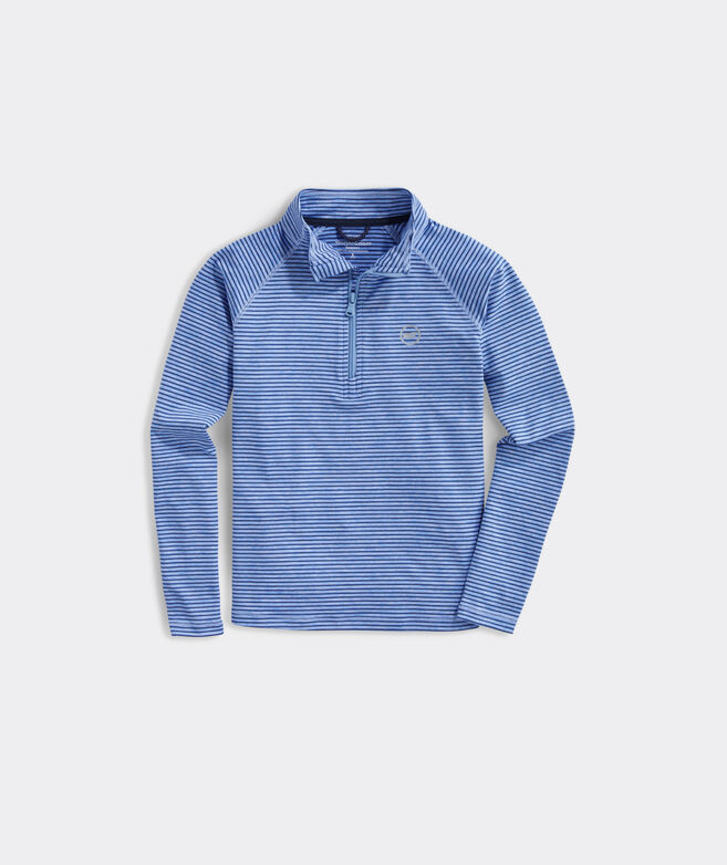 Boys' Heathered Bradley Stripe Sankaty 1/2-Zip Pullover