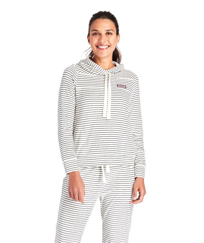 Striped Velour Hoodie Shep Shirt