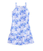 Girls Bermuda Scene Print Swing Dress