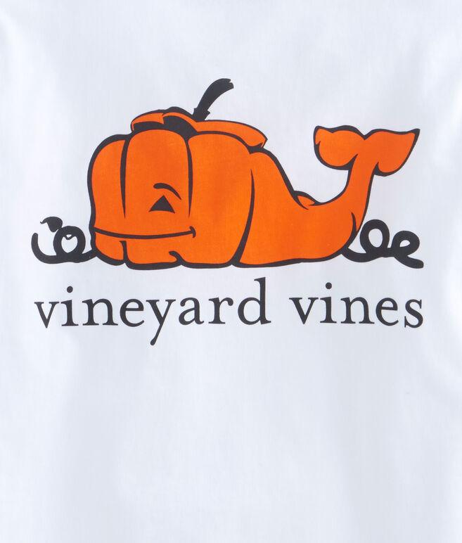 Boys long sleeve pumpkin whale pocket t shirt