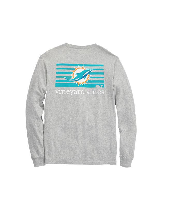 Miami Dolphins Long-Sleeve Block Stripe T-Shirt