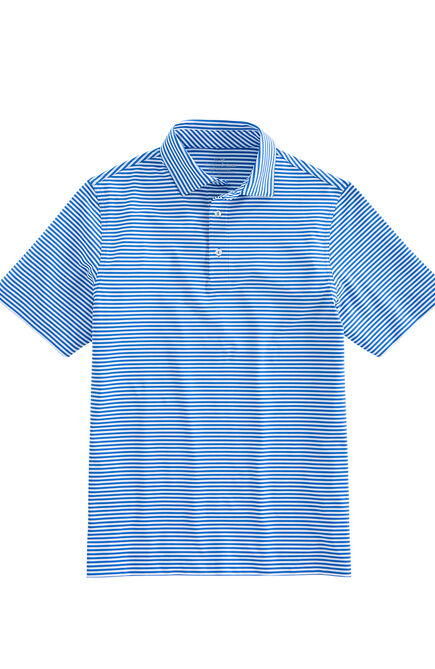 Chicago Cubs Mens Winstead Stripe Sankaty Performance Polo