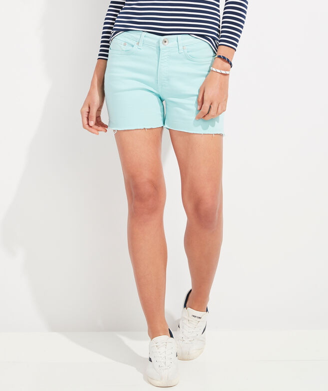 Jamie High-Rise Garment-Dyed Jean Shorts
