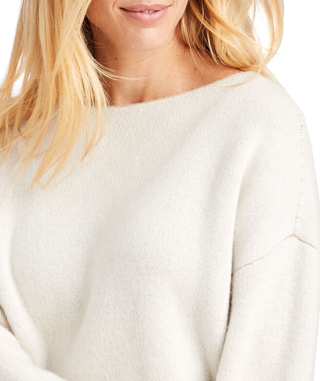 Doubleface Reversible Luxe Boat Neck Pullover