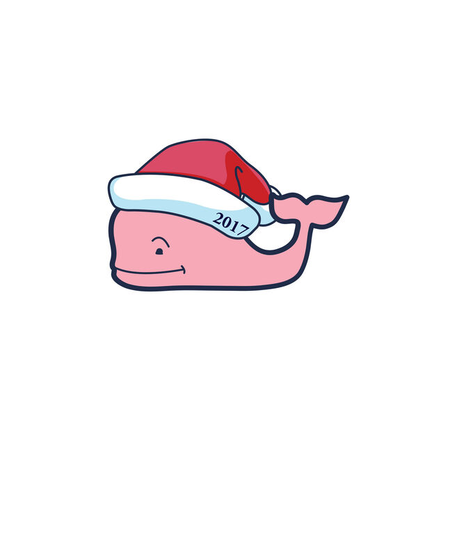 Santa Whale Holiday Sticker (Pack of 6)
