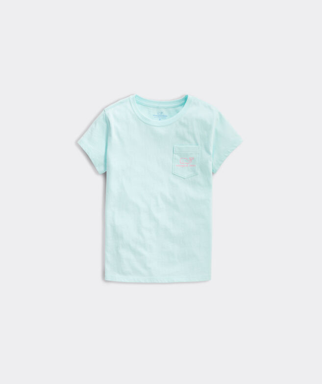 Girls' Glow-In-The-Dark Whale Short-Sleeve Pocket Tee