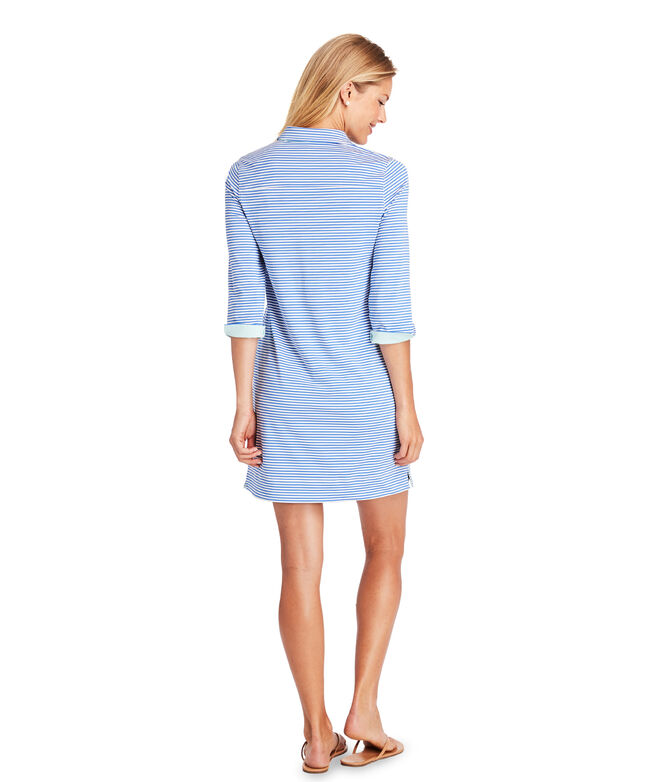 UPF Vineyard Feeder Stripe Shirt Dress