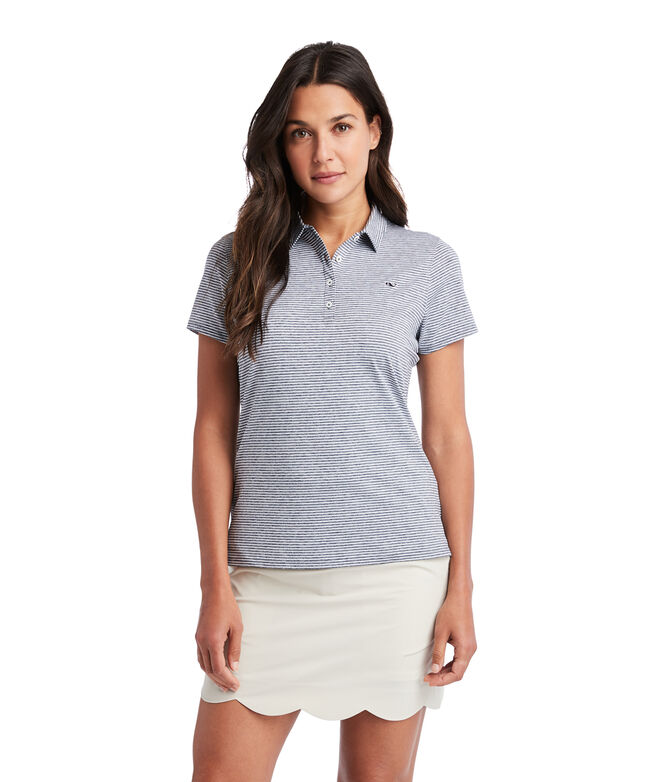 Heathered Stripe Golf Polo