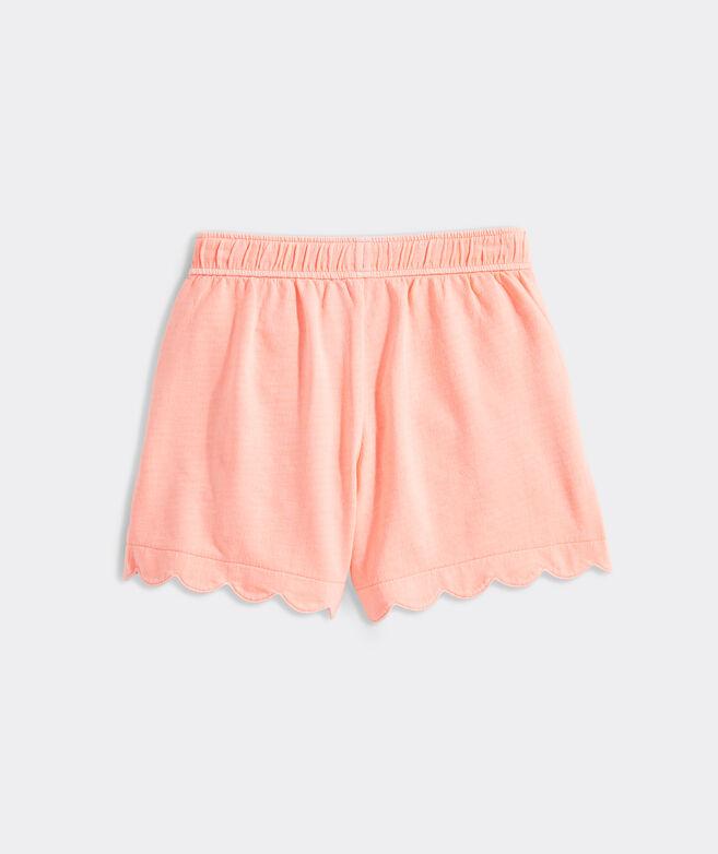 Girls' Garment-Dyed Scallop Shorts